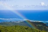 Rainbow over Seascape, St. Martin Island, French Antilles Photographic Print by Stefano Amantini