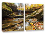 Blue Hen Falls 3, 2 Piece Gallery-Wrapped Canvas Set Posters by Cody York
