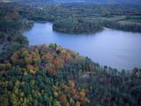 Aerial View of River and Forest, Pittsfield, Massachusetts, USA Photographic Print by Massimo Borchi