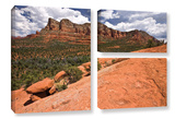 Sedona, 3 Piece Gallery-Wrapped Canvas Flag Set Prints by Cody York