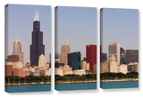 Chicago, 3 Piece Gallery-Wrapped Canvas Set Prints by Cody York