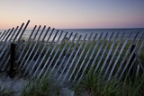 Fence in Sand Dunes, Cape Cod, Massachusetts Photographic Print by Paul Souders