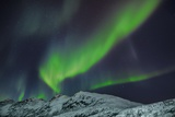 Polar Light over Snowcovered Mountains Photographic Print by Frank Krahmer