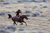Cowboy Riding the Range Photographic Print by Terry Eggers
