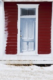 Front Door of Old School House with Snow Photographic Print by Terry Eggers