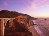 Bridge over Ocean Cliff, Big Sur, California, USA Photographic Print by Massimo Borchi