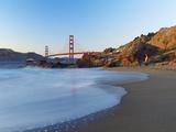 View of Baker Beach and Golden Gate Bridge, San Francisco, California, USA Photographic Print by Massimo Borchi