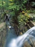 View of Sabbaday Falls, White Mountains, New Hampshire, USA Photographic Print by Massimo Borchi