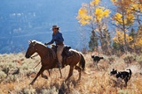 Cowgirl and Her Dogs Photographic Print by Terry Eggers