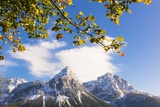 Mountain Range in Autumn Photographic Print by Frank Lukasseck