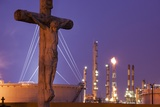 Cemetery and Petrochemical Plant, Baton Rouge, Louisiana Photographic Print by Paul Souders