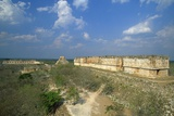 View of Old Ruins, Uxmal, Yucatan, Mexico Photographic Print by Massimo Borchi