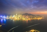 Hong Kong Cityscape at Sunset Photographic Print by Fraser Hall