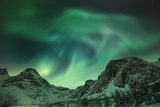 Polar Light over Grotfjord Photographic Print by Frank Krahmer