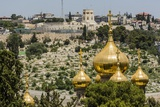 Mount of Olives, the Onion Domes of the Russian Church of Mary Magdalene Photographic Print by Massimo Borchi