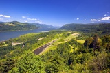 Columbia River Gorge from Crown Point, Oregon, Columbia River Gorge National Scenic Area, Oregon Photographic Print by Craig Tuttle