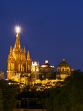 Evening Lights Parroquia Archangel Church San Miguel De Allende, Mexico Photographic Print by Terry Eggers