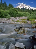 Upper Sandy River & Mt. Hood Photographic Print by Steve Terrill