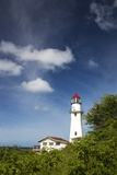 Morning Light on Diamond Head Lighthouse with Puffy Clouds Photographic Print by Terry Eggers
