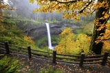 Fall Colors Add Beauty to South Silver Falls, Silver Falls State Park, Oregon Photographic Print by Craig Tuttle