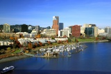 Portland Skyline & Willamette River Photographic Print by Steve Terrill