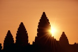 Sunrise at Angkor Wat, Siem Reap, Cambodia Photographic Print by Ron Dahlquist