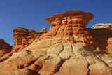 Sandstone Erosion Landscape in Vermillion Cliffs South Photographic Print by Frank Krahmer