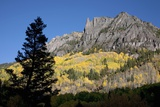 San Juan Mountains and Autumn Color behind Telluride, CO off Mining Road Photographic Print by Joseph Sohm