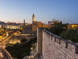 Old Town, the Tower of David (Or Citadel of Jerusalem) and the Walls Photographic Print by Massimo Borchi