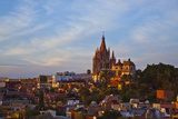 Cathedral of San Miguel De Allende at Sunset Photographic Print by Craig Lovell