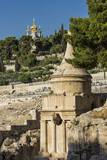 Kidron Valley, the Tomb of Absalom (Also Called Absalom's Pillar) And, on the Background, the Russi Photographic Print by Massimo Borchi