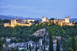 Evening Lights from the Alhambra Palace Fotografiskt tryck av Terry Eggers
