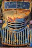 Old Chevy with Rust and Fading Paint Photographic Print by Terry Eggers