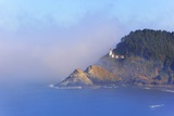 Fog Adds Beauty to Heceta Head Lighthouse, Oregon Coast, Pacific Ocean Photographic Print by Craig Tuttle