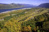Looking East up the Columbia River, Columbia River Gorge National Scenic Area, Oregon Photographic Print by Craig Tuttle