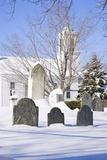 Snowy Church and Cemetery Photographic Print by Joseph Sohm