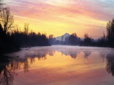 Mt. Hood Reflection at Sunrise Photographic Print by Steve Terrill