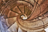 Spiral Stone Staircase in Convento De Cristo Photographic Print by Terry Eggers