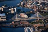 Sunrise Aerials of Boston Skyline and New England Photographic Print by Joseph Sohm