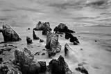 Dramatic View of Shark's Teeth Rock (Gigi Hiu) Photographic Print by Fadil Aziz/Alcibbum Photography