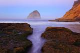Beautiful Sunrise over Haystack Rock, Cape Kiwanda, Oregon Coast, Pacific Ocean, Pacific Northwest Photographic Print by Craig Tuttle