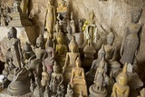 Buddha Statues in Pak Ou Caves outside of Luang Prabang, Laos Photographic Print by Ron Dahlquist