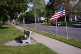 US Flag on Memorial Day, Concord, MA Photographic Print by Joseph Sohm