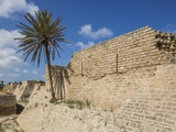 Caesarea Harbor National Park, the Walls of the Crusader City Photographic Print by Massimo Borchi