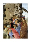 Detail of the Adoration of the Magi Showing Self-Portrait by Sandro Botticelli Giclee Print