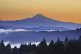 Sunrise through Morning Fog Adds Beauty to Happy Valley, Oregon, Pacific Northwest Photographic Print by Craig Tuttle
