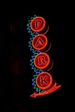 Neon Sign to Park, St. Louis, MO Photographic Print by Joseph Sohm