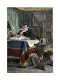 Portrait of Niccolo Machiavelli Giclee Print by Stefano Bianchetti