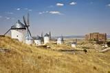 Antique La Mancha Windmills and Castle in Consuegra, Spain Fotografie-Druck von Julianne Eggers