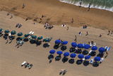 Overhead View of Acapulco Beach Photographic Print by Danny Lehman